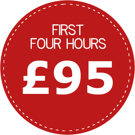 First four hours £95